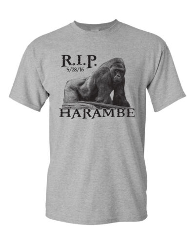 Harambe the Gorilla RIP Men/'s Tee Shirt 1419