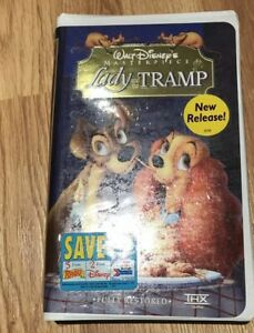 Lady And The Tramp Vhs Walt Disney Msaterpiece Collection Movie Sealed 786936078541 Ebay