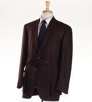 $3795 Oxxford Highest Quality Burgundy Wool Norfolk Jacket 40 R Sport Coat on sale