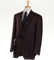 $3795 Oxxford Highest Quality Burgundy Wool Norfolk Jacket 40 R Sport Coat on sale