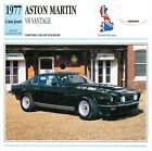 Aston Martin V8 Vantage GT Coupé Sport 1977 GB/UK CAR VOITURE CARTE CARD FICHE