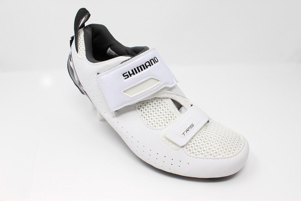 NEW 2019 Shimano TR5 White Men's Triathlon Bike shoes