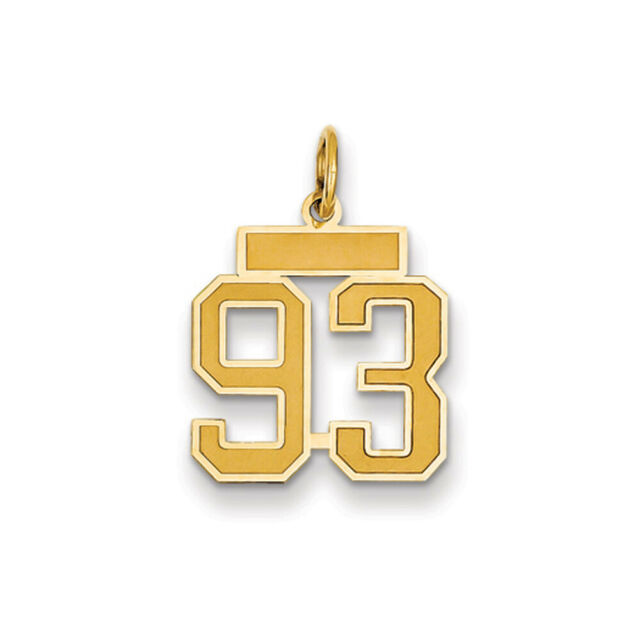 Number 2 Charm Digit Two Pendant Small 14K Yellow Gold