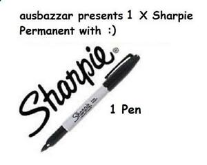 1-x-SHARPIE-Black-Fine-Point-Permanent-Marker-Pen-NEW