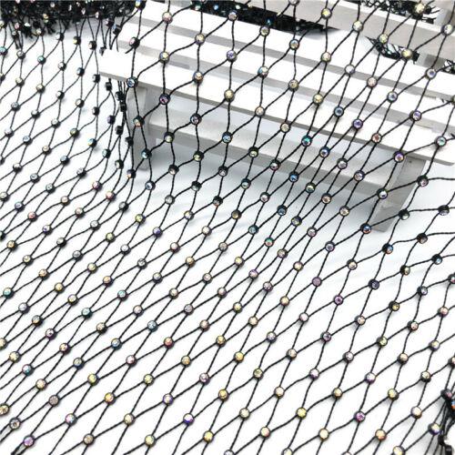 1 Yard Stone Mesh Row Diamante Fishing Net Line ABS Rhinestone Connection Fabric