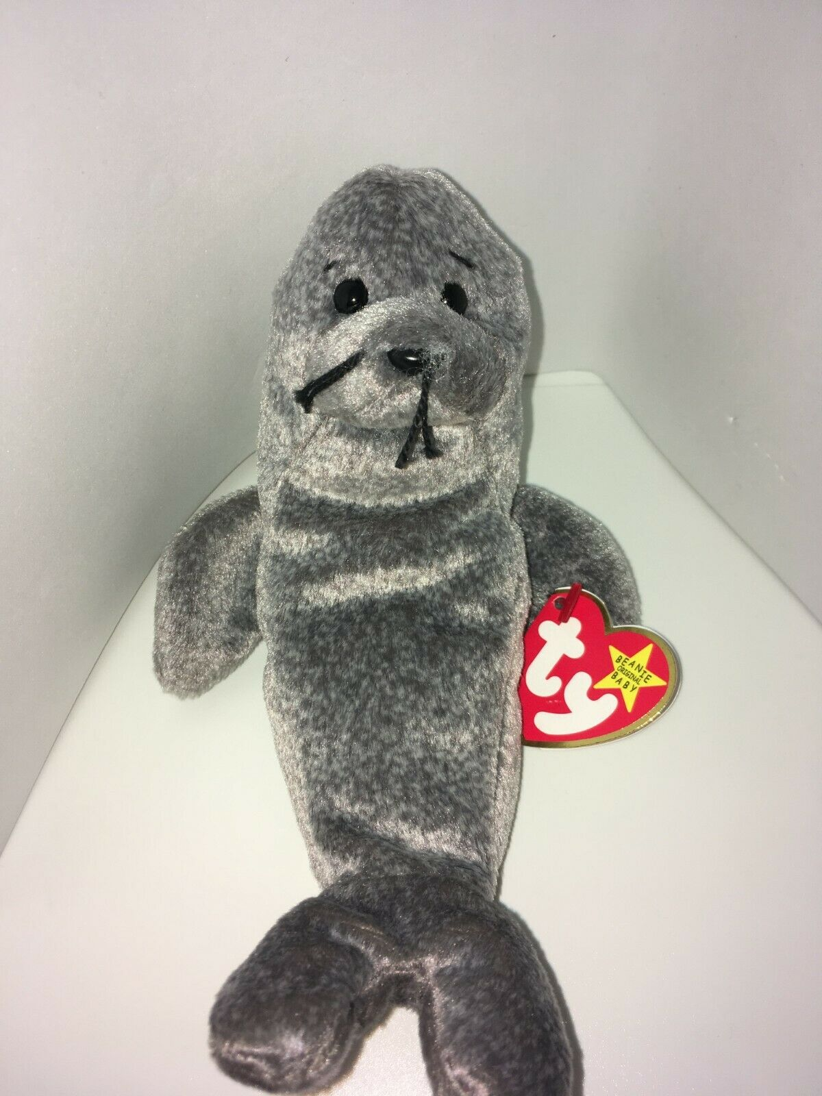 """Retired Ty Beanie Baby SLIPPERY the Seal Tag Errors """"Gasport"""" """"Gasport"""" """"Gasport"""" Never Used Mint 387254"""