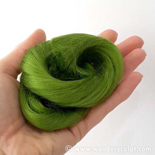 WONDERSCULPT Viscose Fiber OOAK Doll BJD Fairy Hair Wig Reborn GREEN MEADOW