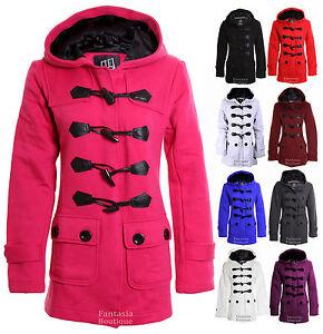 Détails sur Duffle coat manteau veste trench femme à capuche molletonné rembourré poche neuf