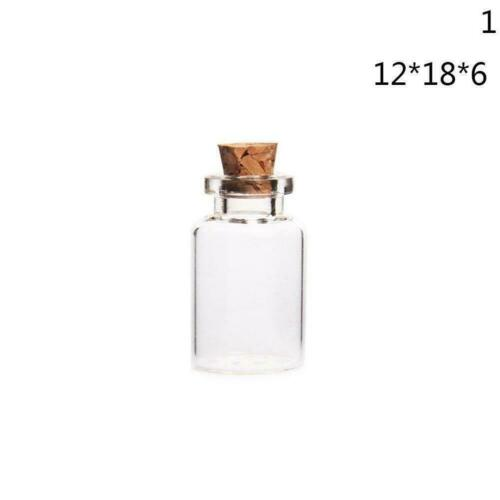 Wholesale Mini Small Tiny Clear Cork Stopper Glass Jars sizes 3 Bottles Via X8W7