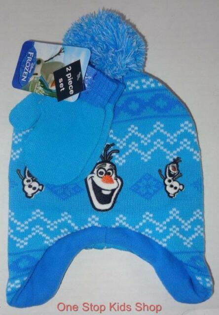 OLAF The Snowman Boys Hat & Gloves WINTER SET Cap Beanie Mittens FROZEN Disney