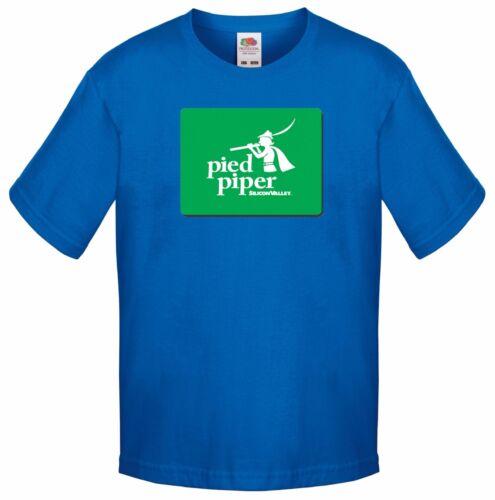 SERIE TV Commedia Divertente T-shirt per bambini Silicon Valley PIED Piper LOGO 2