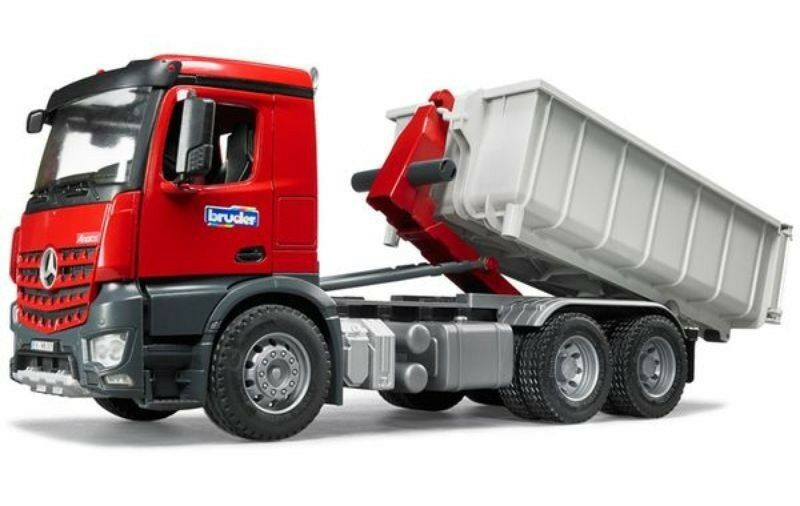 BRUDER 3622 MB Arocs camion container ribaltabile
