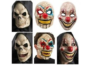 Adults Moving Jaw Horror Clown Killer Scary Fancy Dress Costume Outfit Mask