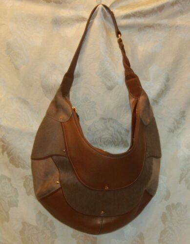 COLE HAAN Gold Fish F05 Large Hobo Handbag Purse L