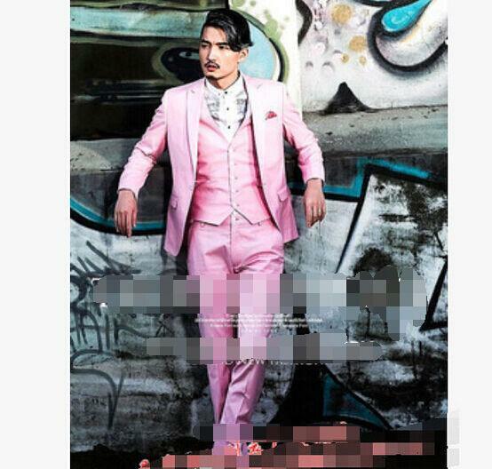 3Pcs para hombre  Blazers Trajes Liso Abrigo Chaqueta y Pantalón & Chaleco Formal Calce Entallado Trajes De Novios  Mercancía de alta calidad y servicio conveniente y honesto.