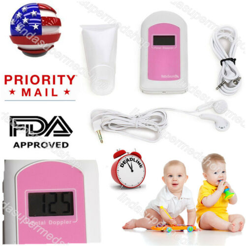 US Prenatal Fetal Doppler Baby Heart Rate,Fetal Doppler Recorder,LCD Display Hot