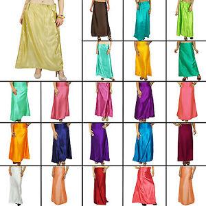 Satin-Silk-Inskirt-Saree-Petticoat-Underskirt-Indian-Innerwear-Sari-Skirt-P16A
