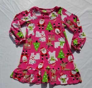 0fa0e50ab8 Image is loading Girls-Carters-Nightgown-Christmas-Santa-Pink-Fleece-Size-