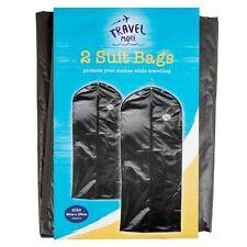 2x Black Suit Cover Garment Clothes Dress Travel Protector Bags 58 x 100cm