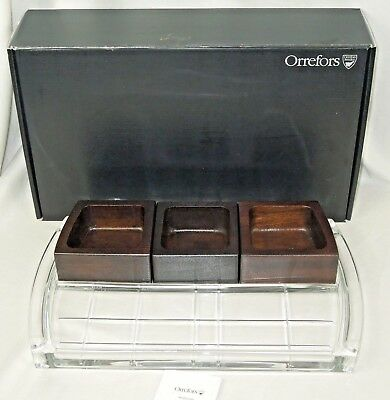 Orrefors Street Clear Lead Free Crystal Condiment Tray 6719834 New In Box Ebay