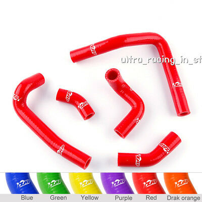 Fit 2003-2008 Honda CR250 CR250R Silicone Radiator Coolant Hose Pipe Kit Red