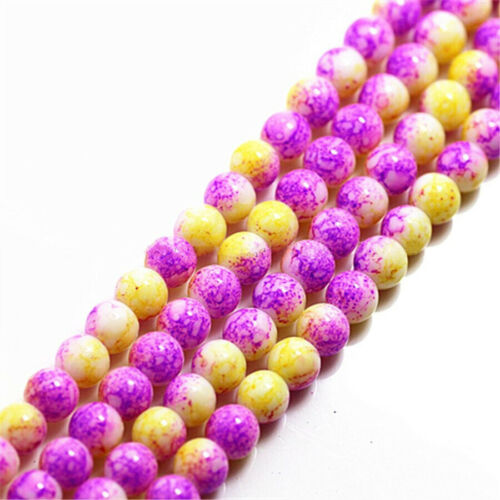 Beads Crystal Loose Glass Round Spacer 6mm Faceted Jewelry Making Craft DIY