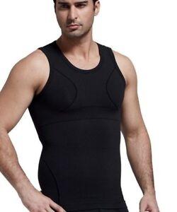 Mens Slimming Compression Vest For Man Boobs Moobs Gynecomastia Shirt Tank UK