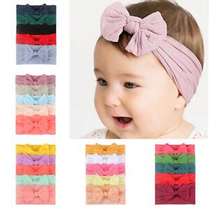 Headwear-Cute-Girls-Baby-Toddler-Accessories-Headband-Hair-Band-Turban-Bow-5PCS