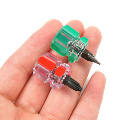 2pcs//Set Mini court Stubby Phillips fente tournevis Outils Set Kit utile AA