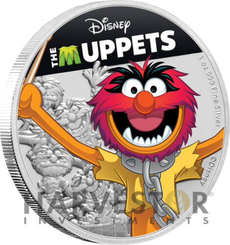 1 OZ FOURTH IN SERIES 2019 DISNEY MUPPETS: ANIMAL SILVER COIN
