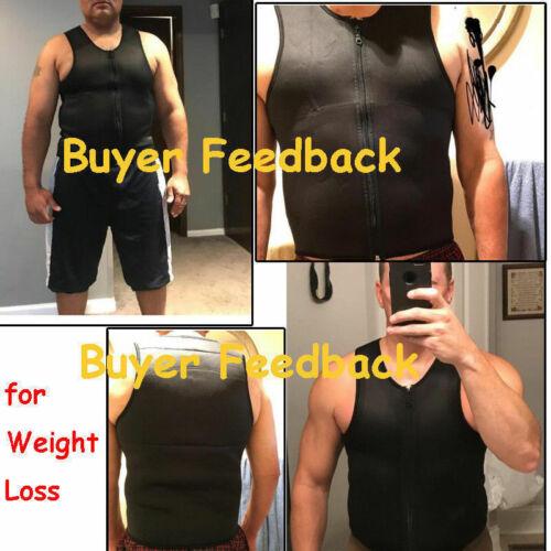 US Men Gym Neoprene Sauna Vest Sauna Ultra Sweat Shirt Body Shaper Slimming Tank