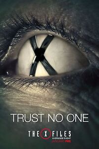 The-X-Files-Season-10-TV-Poster-2016-24x36-Trust-No-One-Fox-Mulder-Scully