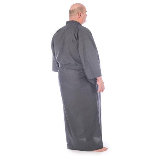 Extra Large Mens Black Cotton Japanese Yukata