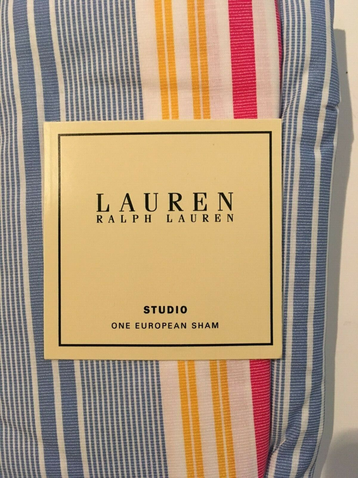 Ralph Lauren  STUDIO AWNING STRIPES  EURO SHAM  NEW