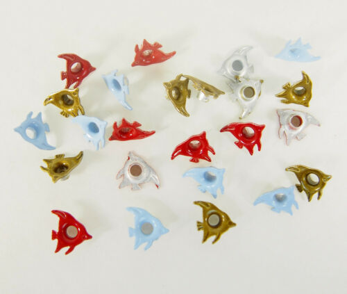 Scrapbooking Eyelets 24 Angel Fish 3 Colors Paper Art Handmade Cards Crafts