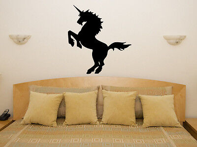 Magical Mystical Unicorn Childrens Bedroom Room Decal Wall Art Sticker Picture