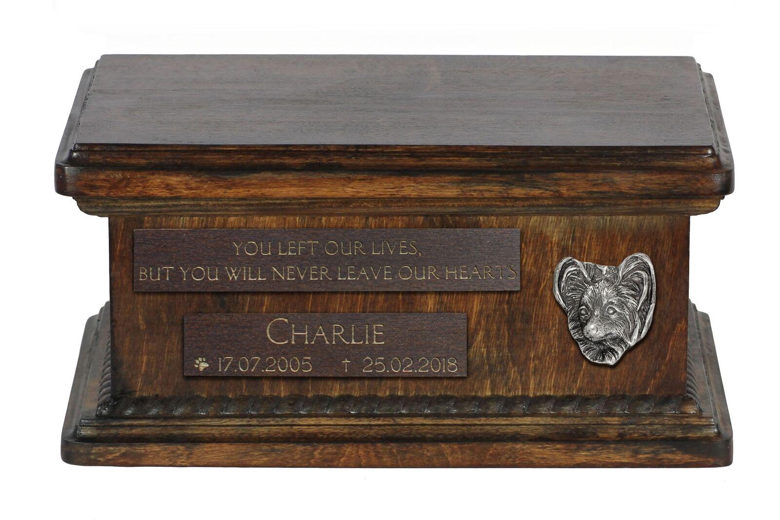 basso prezzo del 40% Papillon - wooden urn for dog's ashes, low low low model, Art Dog  design semplice e generoso
