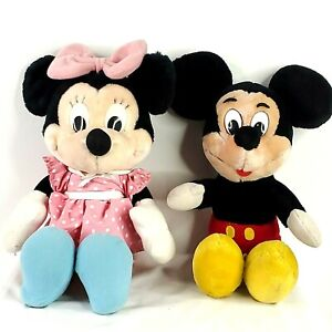 Mickey-and-Minnie-Mouse-plush-blue-shoes-pink-bow-red-shorts