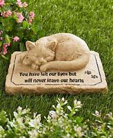Pet Memorial Garden Cemetery Grave Marker Cat Statue Sculpture Tomb Stone