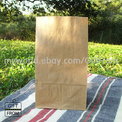 X 12,50,100 Kraft Wedding Party Favor bags_Stand up candy buffet goody paper bag