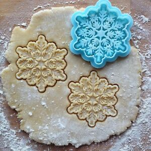 Image Is Loading Snowflake Cookie Cutter Christmas Stamp