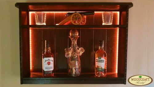 LED Beleuchtung BOUQUET Farbauswahl Whiskyregal Massivholz