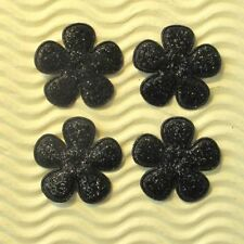 "MANY COLOR 60 pcs x 1"" Padded Shiny Felt Spring Flower Appliques for Cards ST504"