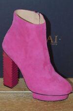 NIB APERLAI Womens ELINE Pink Suede Ankle Boots w/Platform Heels Size 7 EUR 37