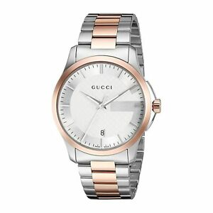 fa32928afd7 Gucci Women s G-timeless Quartz 50m Two Tone Stainless Steel Watch YA126447