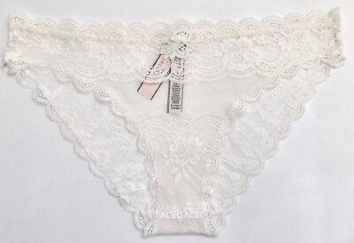 NWT*Victoria/'s Secret DREAM ANGELS FLORAL LACE /& STRIPE CHEEKINI PANTY-NAVY-S//P