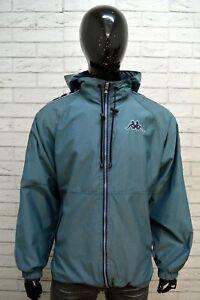 KAPPA-Uomo-Giacca-Taglia-XL-Cappotto-Giubbotto-Impermeabile-Nylon-Vintage-Jacket