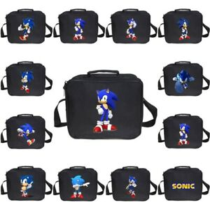 Uk Kids Sonic The Hedgehog Lunch Bags Picnic Bags School Lunch Box Shoulder Bag Ebay