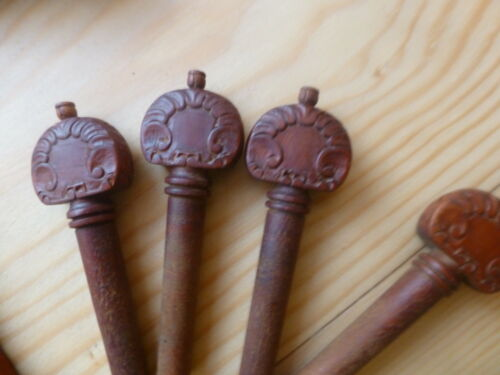 TAILPIECE PEGS END PIN!!! CHIN REST VIOLIN FITTINGS LUXURIOUSLY CARVED