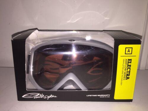 Smith Optics ELECTRA Silver// Gold Medium S2 RC36 EL3ESV12 Ski Snowboard Goggles